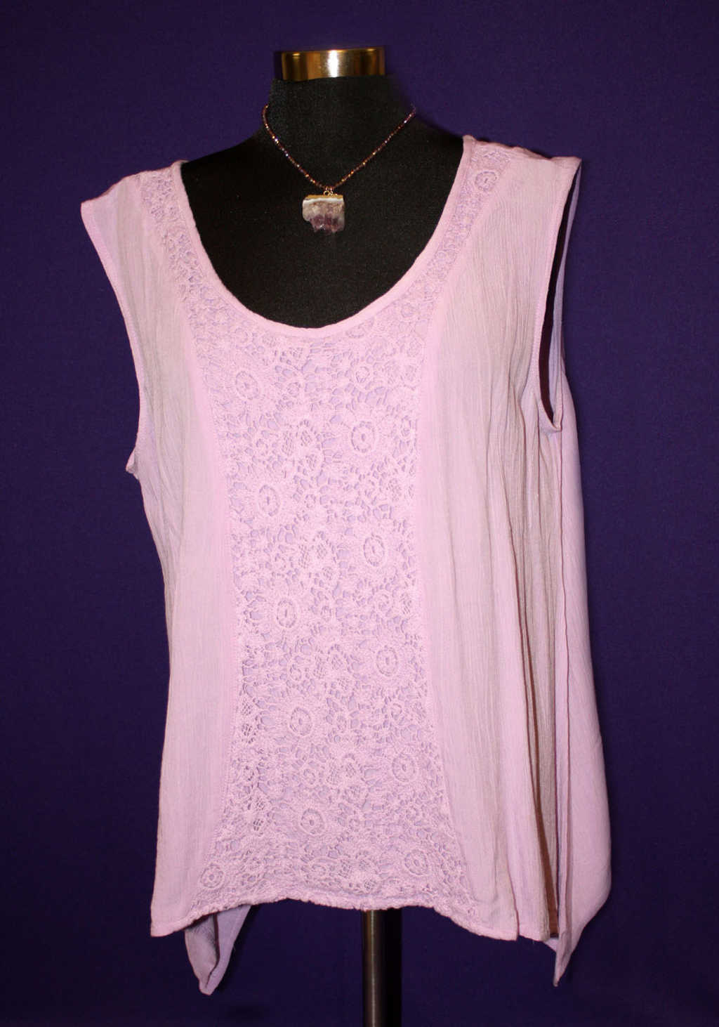 Light purple lace flower tank avaliable at Mon General Hospital Apparel Gift Shop