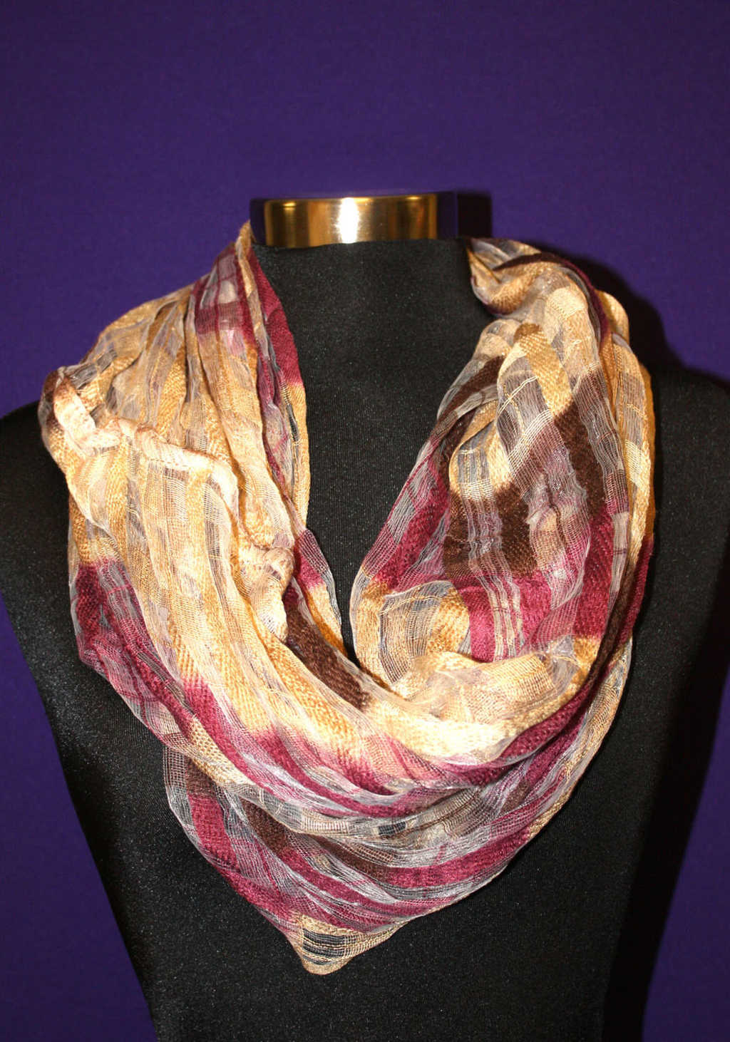 Maroon, Brown and Gold Scarf available at Mon General Hospital Apparel Gift Shop