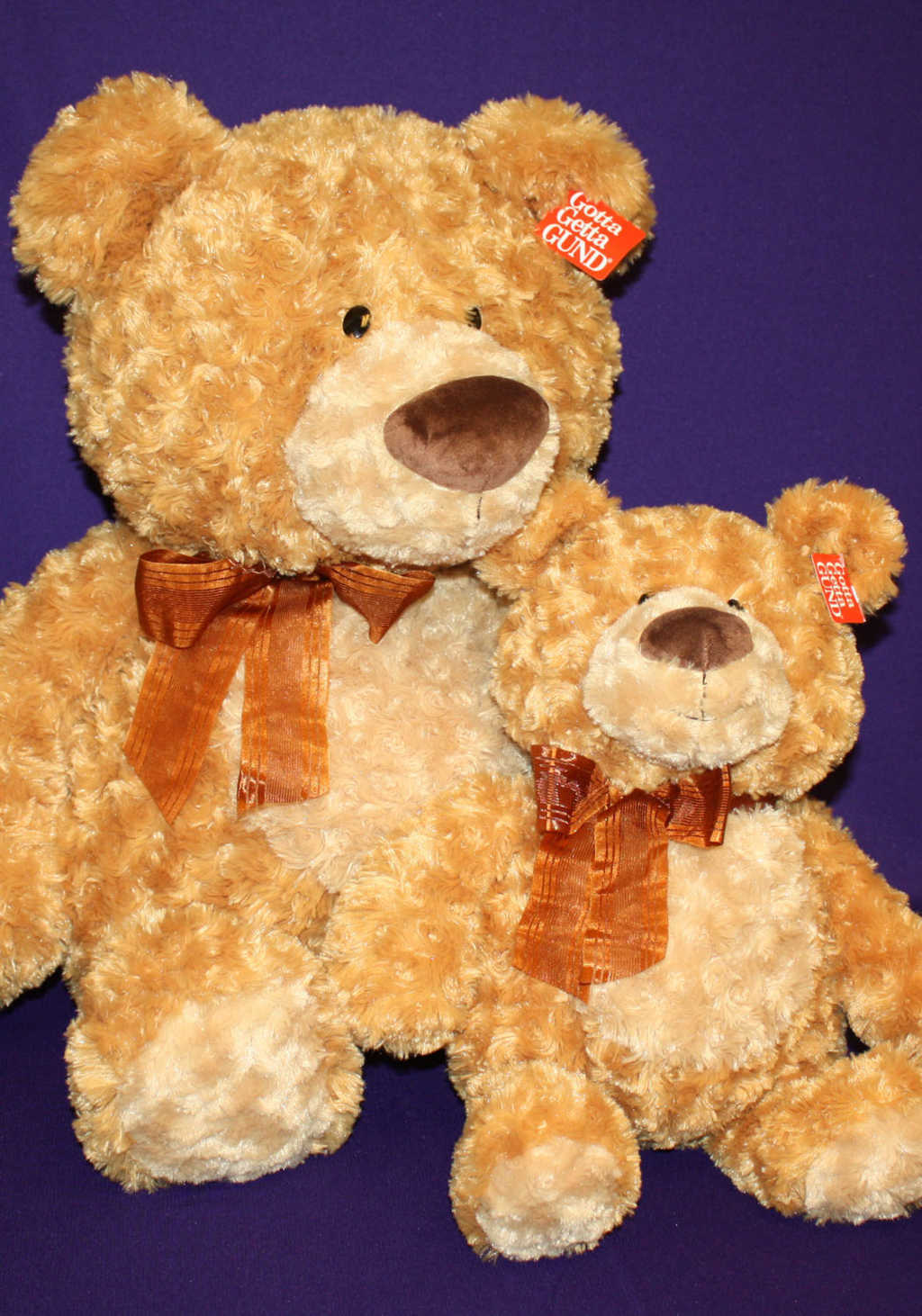 Big Brown Fluffy Bear with Small Brown Bear Plush Toy Available at Mon General Hospital Gift Shop