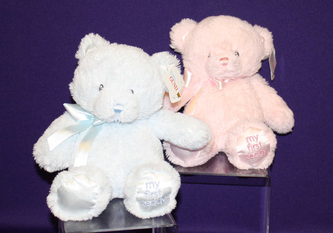 Light Blue and Light Pink Plush Toy Bears Avaiilable at Mon General Hospital's Gift Shop